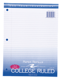 Looseleaf Paper College Rule