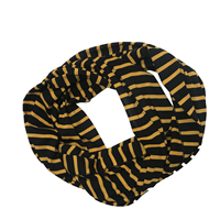 Scarf Striped Infinity Black And Gold