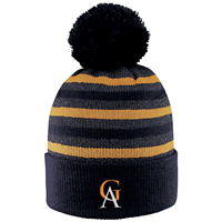 Hat Gustavus Heathered Stripe With Pom