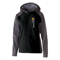 Women's Jacket Hood Soft Shell Black / Carbon