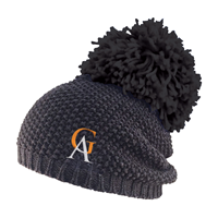 Hat Rally Gray With Black Pom