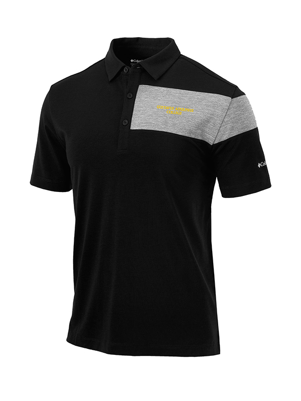 Polo Columbia Gustavus Adolphus College Black With Gray (SKU 1184182190)