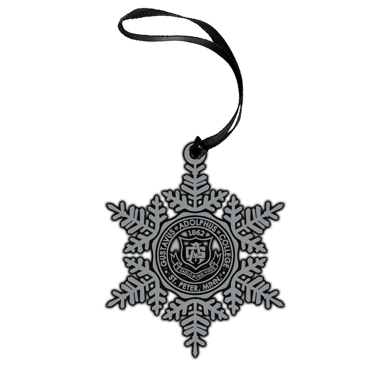 Pewter Gustavus Seal Snowflake Ornament (SKU 1184427373)
