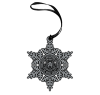 Pewter Gustavus Seal Snowflake Ornament