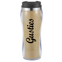 Travel Tumbler Gusties Glitter Gold