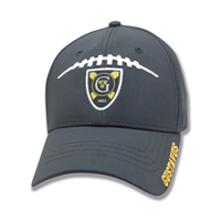 Cap Embroider Football Laces/Shield