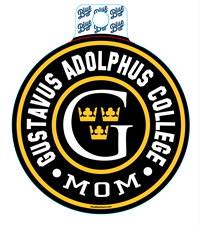 Sticker Blue84 Circle Gustavus Adolphus College  Mom