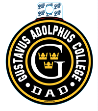 Sticker Blue84 Circle Gustavus Adolphus College Dad