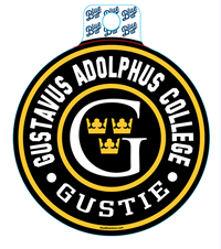 Sticker Blue84 Circle Gustavus Adolphus College Gustie