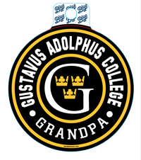 Sticker Blue84 Circle Gustavus Adolphus College Grandpa