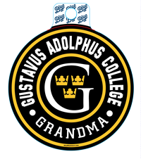 Sticker Blue84 Circle Gustavus Adolphus College Grandma