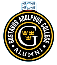 Sticker Blue84 Circle Gustavus Adolphus College Alumni