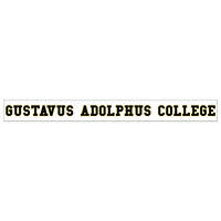 "Decal Gustavus Adolphus College 2""X19"""