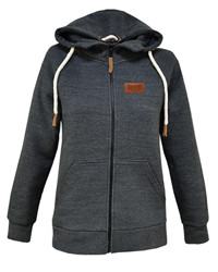 Women's Full Zip Hood W/ Leather Patch
