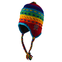 Hat Adult Yak Toboggan GA Rainbow