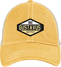 Cap Bl84 Mesh Back Diamond Patch Mustard/Stone