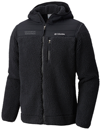 Jacket Hood Columbia Fleece Black