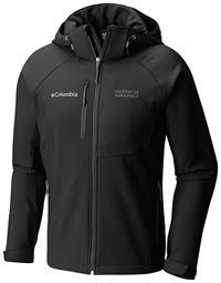 Jacket Hood Columbia  Softshell Black