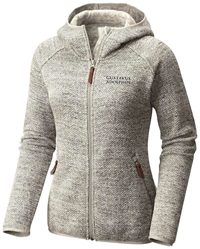 Women's Jacket Hood Columbia Fleece Chalk Heather