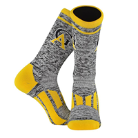 Socks Twin City Knit Crew Interlocking GA Black/Gold/White
