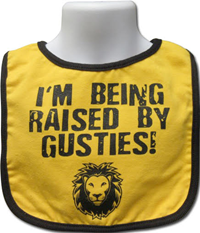 Infant Bib I'm Being Raised By Gusties