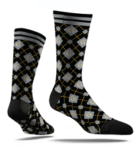 Socks Dress Style With Argyle G & Crowns