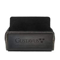 Business Card Desk Holder Debossed Gac Leather