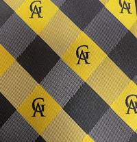 Tie Woven Poly Plaid GA Black & Gold