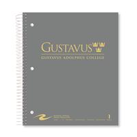 NOTEBOOK GUSTAVUS WORDMARK 1 SUB BLK/GY/WHT