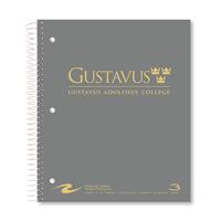 NOTEBOOK GUSTAVUS WORDMARK 3 SUB BLK/GY