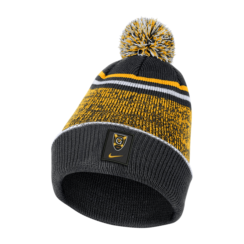 Hat Nike Beanie With Removable Pom Black And Gold (SKU 1191772454)