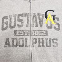 FULL ZIP HOOD BLUE 84 GUSTAVUS ADOLPHUS GA