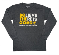 Long Sleeve Blue 84 Believe There Is Good Heather Black