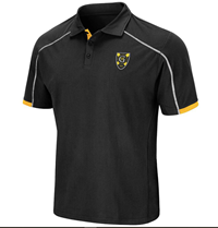 New!!   Black Polo W/ White Piping
