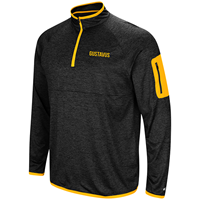 Quarter Zip Heathered Black With Gold Accents
