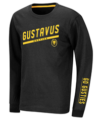 Youth Long Sleeve T-Shirt Colosseum Gustavus Gusties Gus Black